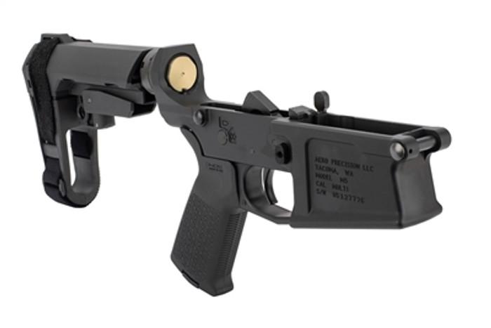Aero Precision M5 (.308) Complete Lower Receiver w/ MOE Grip & SBA3 Brace - Black