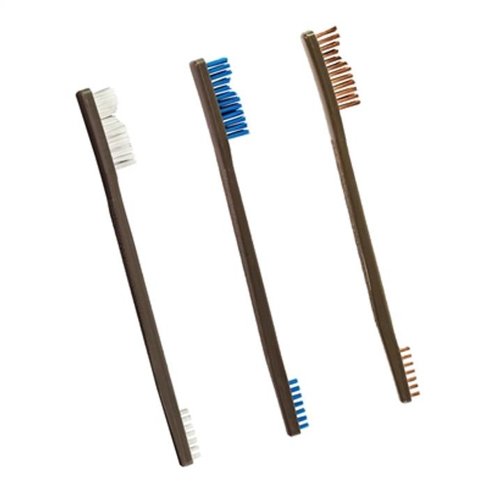 Otis Technology 3 Pack AP Brushes Nylon / Blue Nylon / Bronze