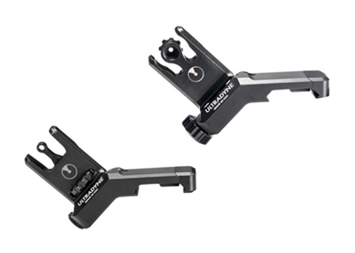 Ultradyne C2 Offset Front & Rear Sight Combo - 12 MOA Aperture