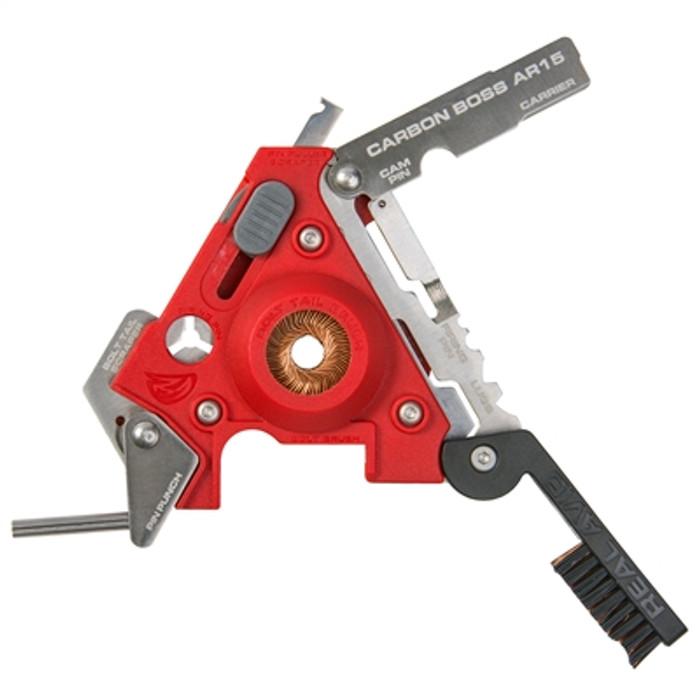 Real Avid Carbon Boss Multi-Tool AR15 16 Precision Tools - Includes Nylon Sheath