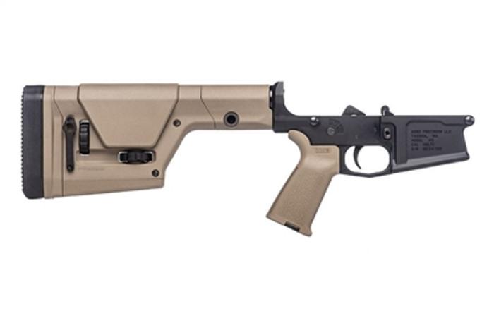 Aero Precision M5 Complete Lower Receiver w/ MOE Grip & PRS Rifle Stock - FDE