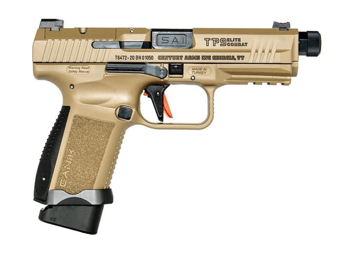 Canik TP9SF Elite Combat Salient 9MM - (2) 15RD Magazines - FDE