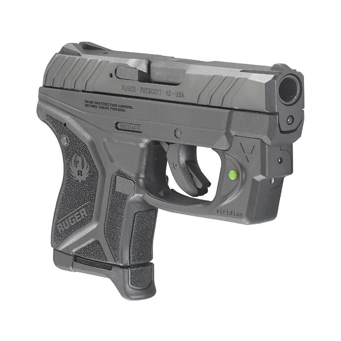 Ruger LCP II 380ACP W/ GRN Viridian Laser- (1) 6RD Magazine