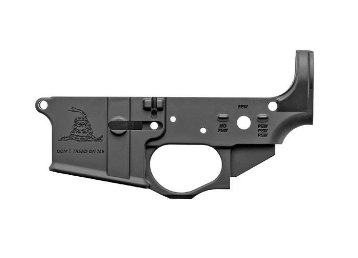 Spike's Tactical Stripped Lower (Multi) Forged - Gadsden Flag