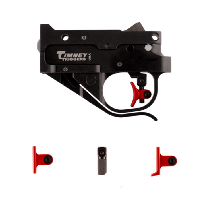 Timney Ruger 10/22 Calvin Elite Trigger One Piece Complete Assembly With Four Shoes Included (Curved, Flat, Heeled and Knurled) - Fits Ruger 10/22