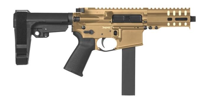 CMMG Pistol Banshee 300 MK9 Colt Pattern 9mm - Delayed Blowback - Burnt Bronze