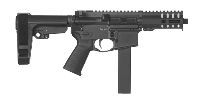 CMMG Pistol Banshee 300 MK9 Colt Pattern 9mm - Delayed Blowback - Graphite Black