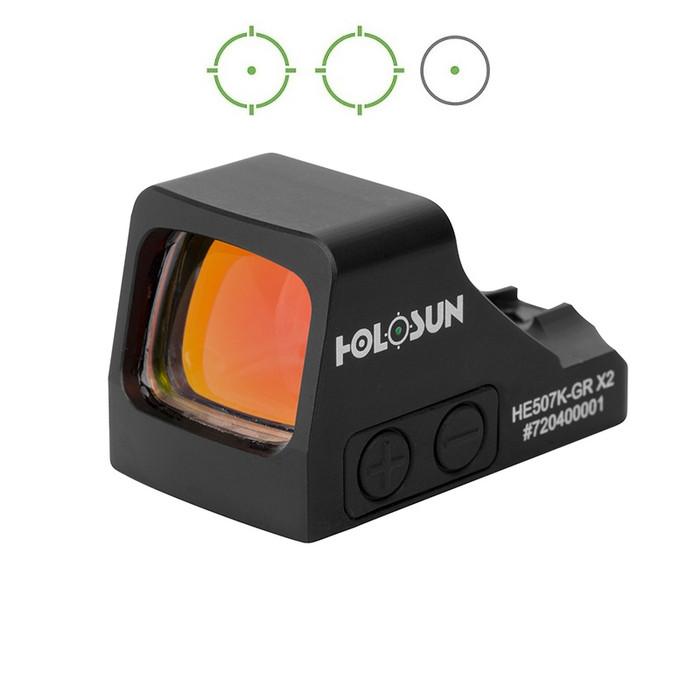 Holosun HE507K-GR X2 Green Circle Dot Multi-Reticle Dot Sight