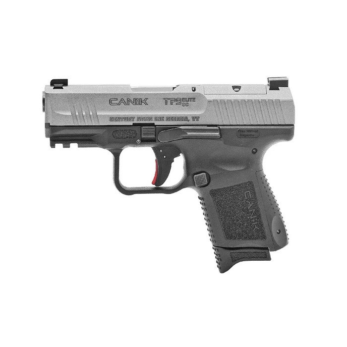 Canik TP9 Elite Sub-Compact 9MM - (1) 12RD / (1) 15RD Magazines - Tungsten