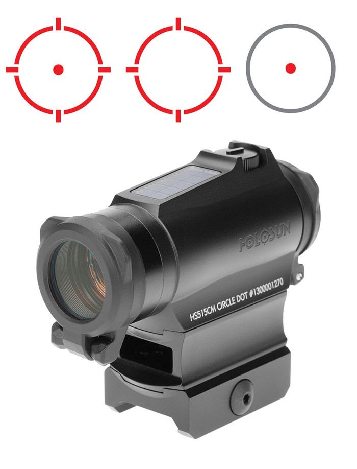 Holosun Paralow HS515CM Solar Red Dot - 1/3 Co-Witness - 2MOA