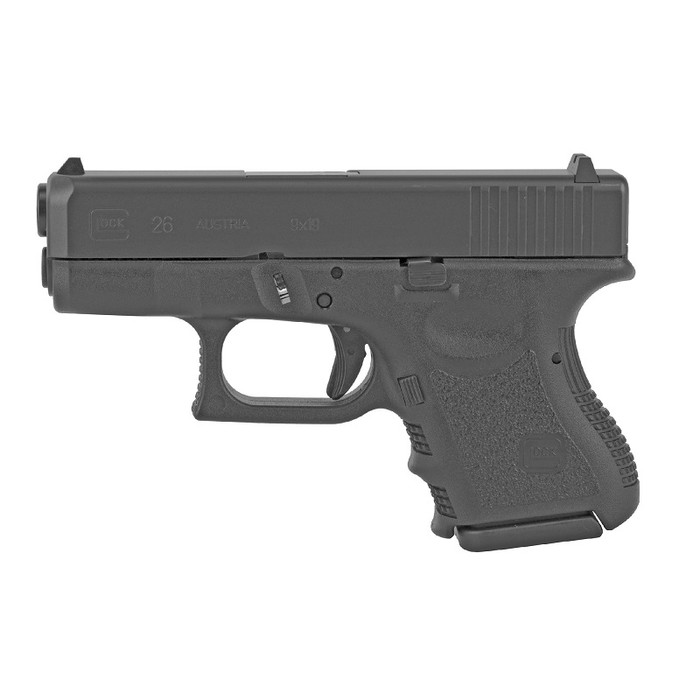 "Glock 26 GEN 3 9MM 3.43"" - (2) 10RD Magazines"