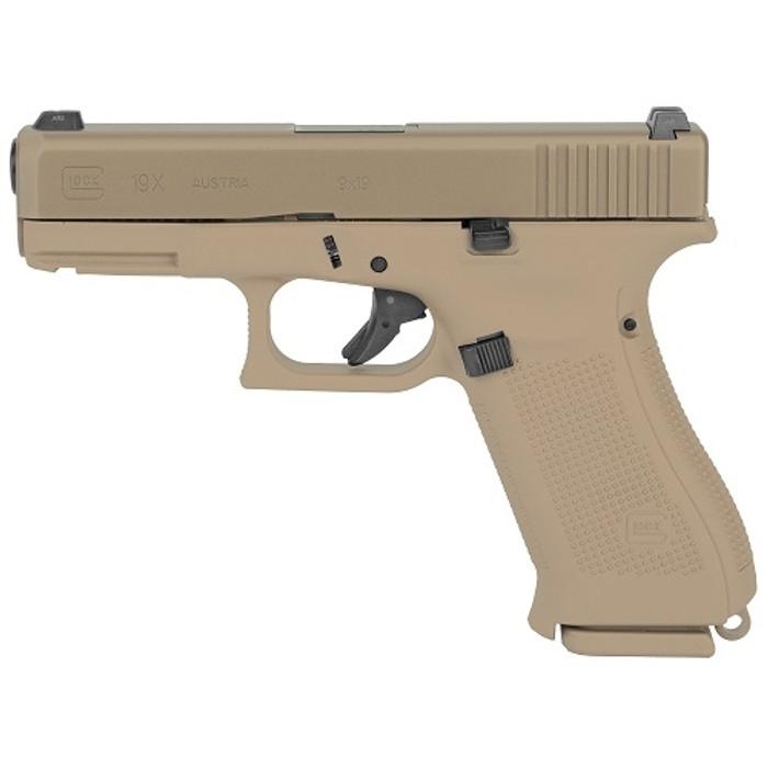 Glock 19X GEN5 9mm FDE - (1) 17RD / (2) 19RD Magazines