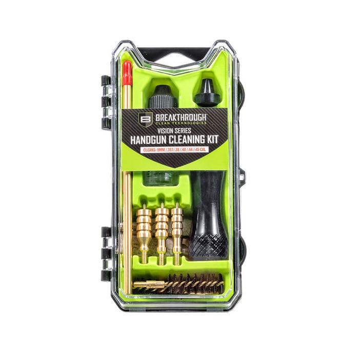 Breakthrough Vision Series Handgun Cleaning Kit- 9mm, .357/.38/.40/.44/.45 Cal