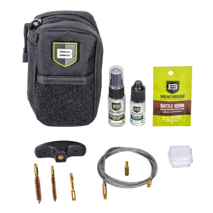 Breakthrough Compact Pull Through Gun Cleaning Kit (.17 & .22 cal) - Black