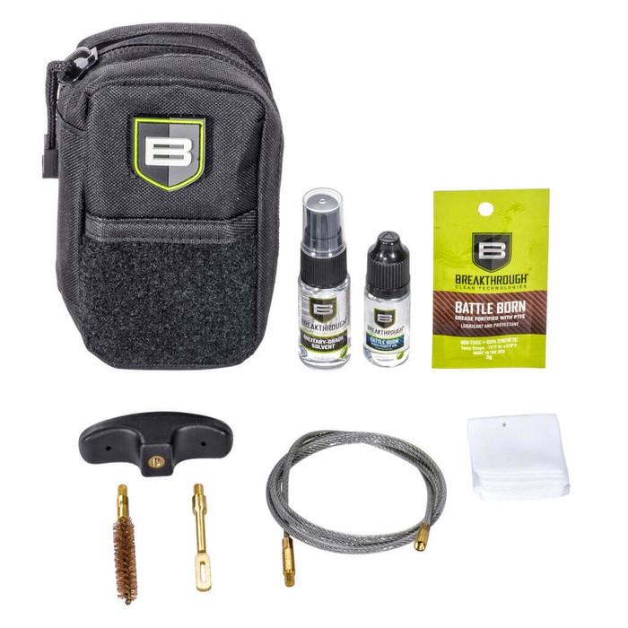 Breakthrough   Compact Pull Through Gun Cleaning Kit (.30/.308 cal / 7.62mm) - Black
