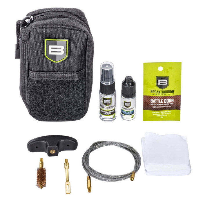 Breakthrough Compact Pull Through Gun Cleaning Kit (.44 & .45 cal) - Black