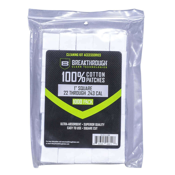 """Breakthrough Square Cotton Patches - 1"""" x 1"""" - 1,000pcs / Pack with Plastic Tray"""