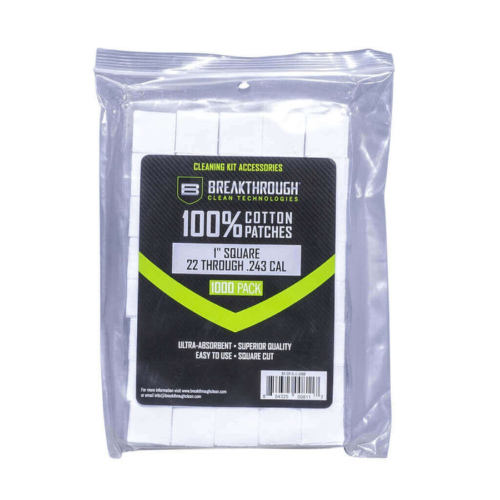 """Breakthrough Square Cotton Patches - 1"""" x 1"""" - 200pcs / Pack with Plastic Tray"""