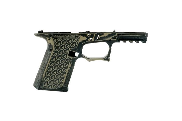 Grid Defense Glock 19/23/32 100% Pistol Frame - Gen 3 Battleworn FDE - Locking Block Included (FFL REQ.)