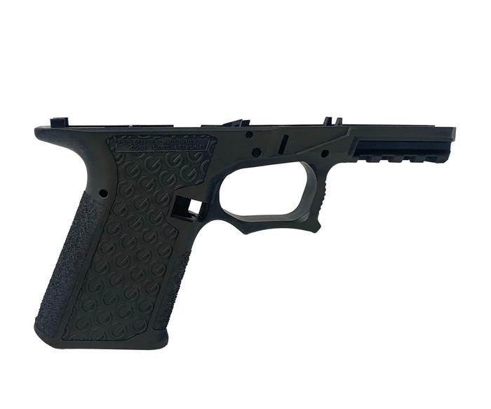 Grid Defense Glock 19/23/32 100% Pistol Frame - Gen 3 Battleworn OD Green - Locking Block Included (FFL REQ.)