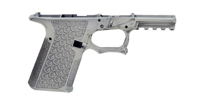Grid Defense Glock 19/23/32 100% Pistol Frame - Gen 3 Battleworn White - Locking Block Included (FFL REQ.)