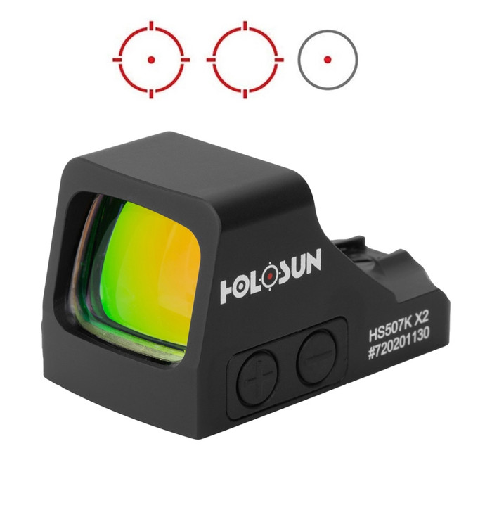 Holosun HE507K-X2 Red Circle Dot Multi-Reticle Dot Sight