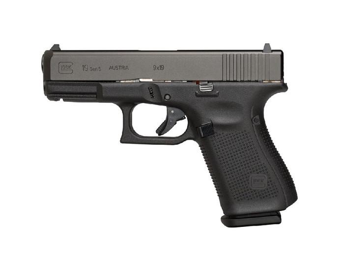 Glock 19 GEN 5 9mm - No Front Serrations - (3) 15 Round Magazines