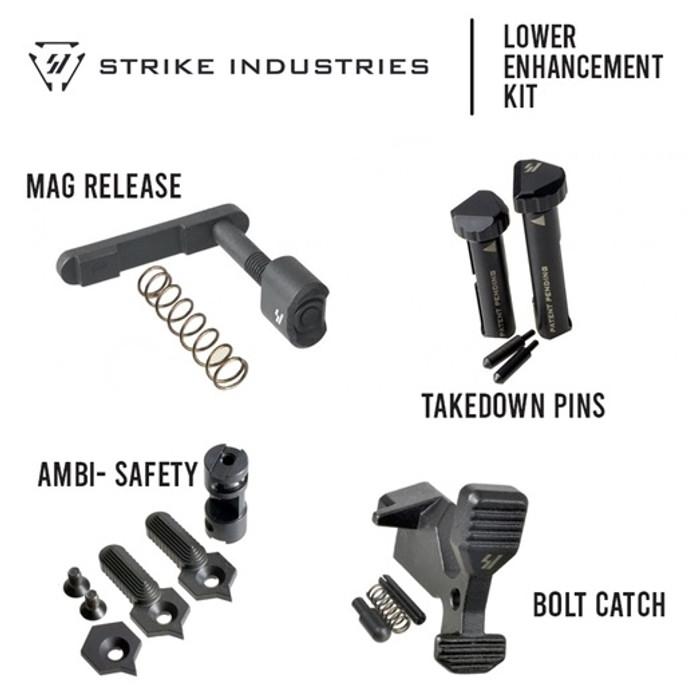 Strike Industries Lower Parts Enhancement Kit - Black