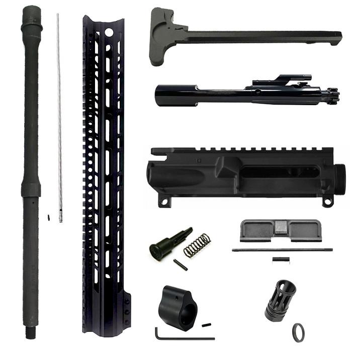 "Ramlin AR15 16"" Mid Complete Upper Receiver Build Kit - 15"" M-LOK Handguard"