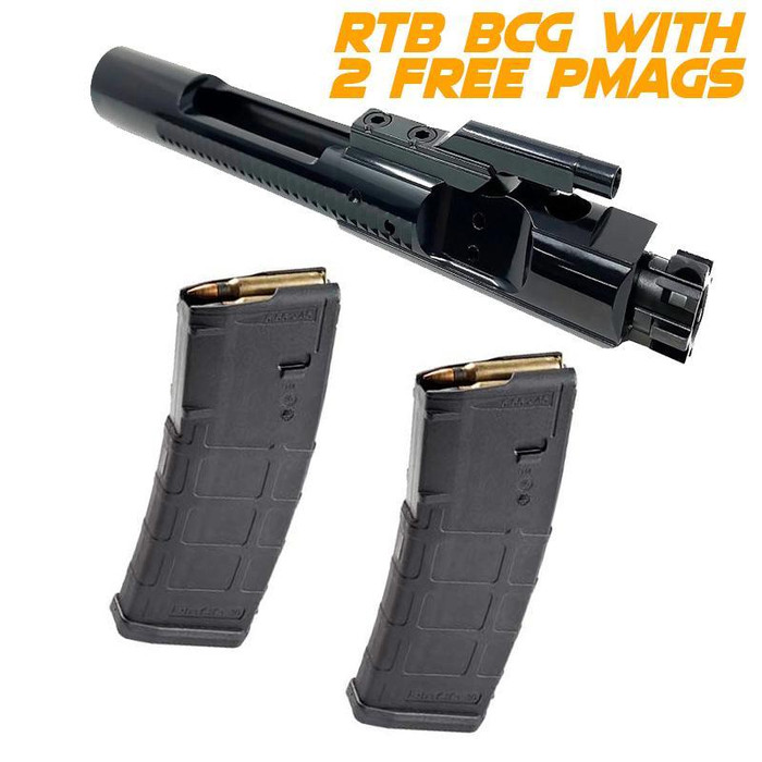 RTB Complete M16 BCG - BLACK NITRIDE with 2 FREE Magpul 30 / 10 rd PMAGs