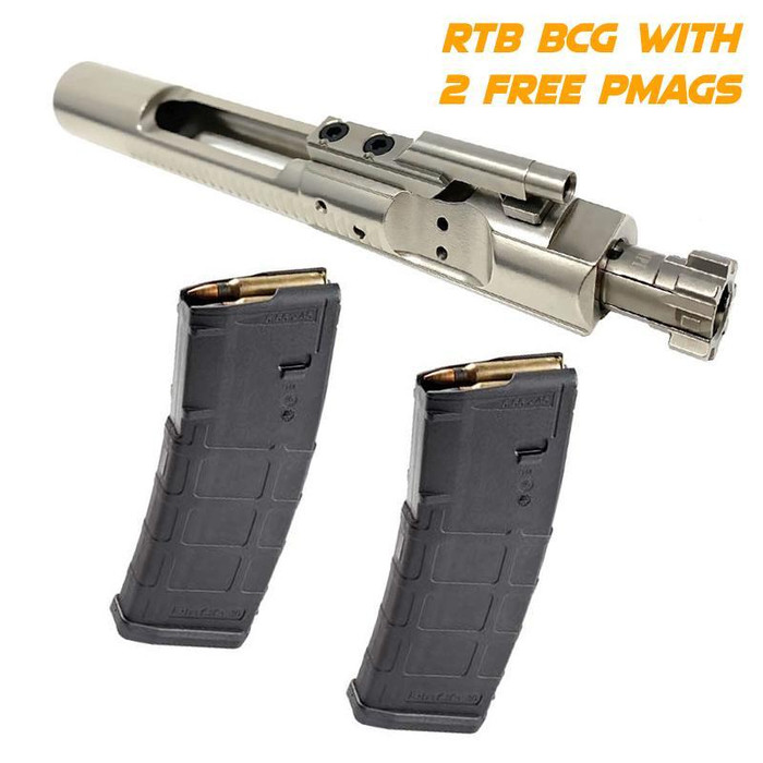 RTB Complete M16 BCG - NICKEL BORON with 2 FREE Magpul 30 / 10 rd PMAGs