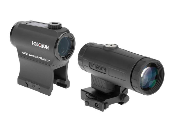 Holosun HS403C Micro Red Dot Sight w/ HM3X 3X Magnifier