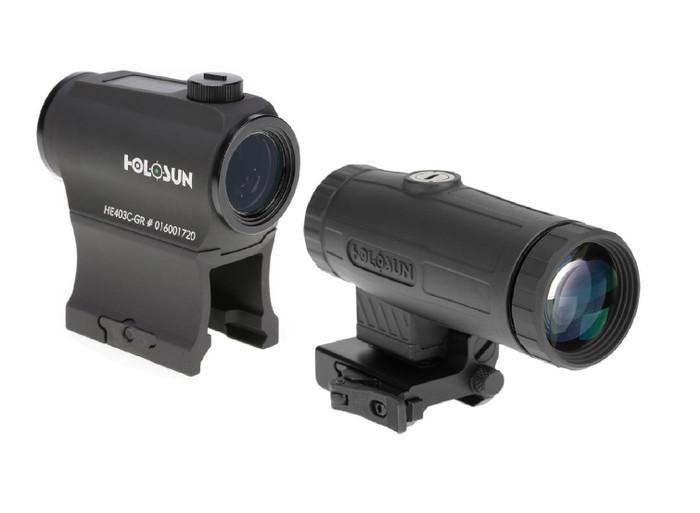 Holosun HE403C-GR Micro Green Dot Sight w/ HM3X 3X Magnifier