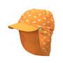 Jona Sun Protective Flap Cap - Crab Orange