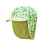 Jona Sun Protective Flap Cap - Dino Yellow