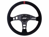 "6-bolt PRP ""flat"" Suede Steering wheel, Red"