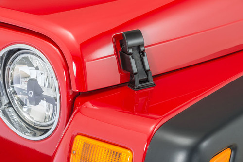 OE style replacement hood latches for the Jeep TJ