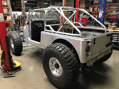 GenRight Fastback cage in the Jeep LJ