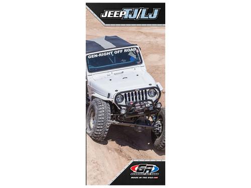 GenRight Jeep TJ & LJ Trifold Brochure (Qty of 250)