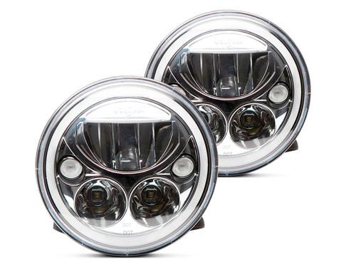 "Vision X 7"" Vortex LED Headlight Set (Chrome)"