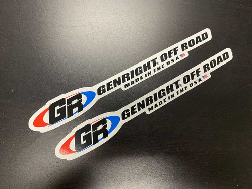 """GR, GenRight Off Road 8"""" long color stickers"""