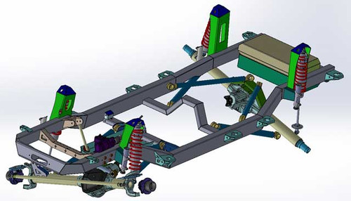 CAD Drawing of the GenRight JL Elite Suspension System