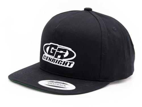 GenRight Logo Premium 5-Panel Snapback Cap (Black)