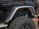 """Jeep JL 4"""" Flare Rear Tube Fenders (Front View)"""