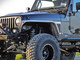 """Front Side View - Raw Aluminum 4"""" Flare Front Fenders"""