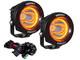 "VisionX 3.7"" Optimus Round 15º Beam w/ Amber Halo LED Light Kit"