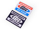 GenRight Logo Patches, available in red, white, & blue, or black & white. Sold each.