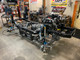 The GenRight frame with major components and stock engine/transmission/transfer case installed