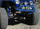 Close up of steering system on a TJ with a Dana 44 front axle