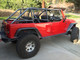 JK (4 Door) Full Roll Cage Kit Installed with B-pillar on tub removed